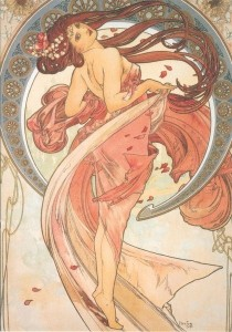 *Source: mages-in.centerblog.net Alfons Mucha was an actor of the Art Nouveau movement that started in Austria in the late 19th century, in reaction to the academic art. Art nouveau then spread in Belgium, in France and in the rest of Europe; then outside Europe. A breath of freedom from brave artists against established rules.