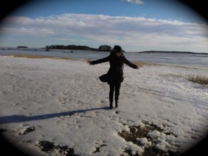 In eastern Helsinki, the day after vocal recording, on a windy day.