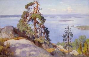 Eero Järnefelt, Maisema Kolilta, 1928